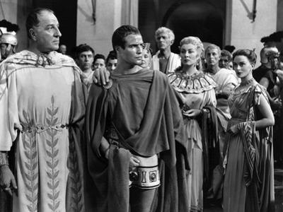 Jules Cesar JULIUS CAESAR by Joseph Mankiewicz with Louis Calhern, Marlon Brando, Greer Garson and