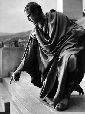 Jules Cesar Julius Caesar by Joseph Mankiewicz with Marlon Brando (Marc-Antoine), 1953 (b/w photo)