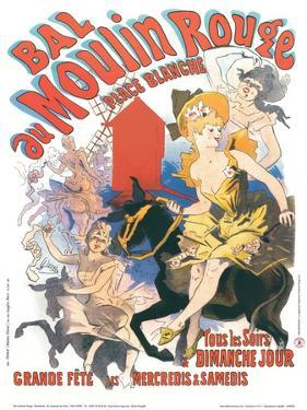 1889 Moulin Rouge Place Blanche by Jules Ch?ret