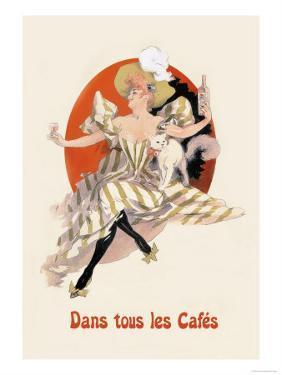 Dans Tous les Cafes: Quinquina Dubonnet by Jules Ch?ret