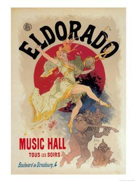 Eldorado Music Hall by Jules Ch?ret