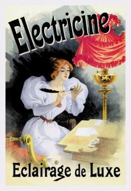 Electricine, Eclairage de Luxe by Jules Ch?ret