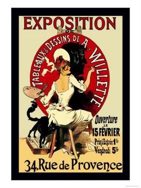 Exposition: Tableaux et Dessins de A. Willette by Jules Ch?ret