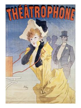 Poster Advertising the 'Theatrophone' by Jules Ch?ret