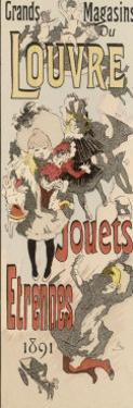 Poster Advertising Toys for Sale at the Grands Magasins Du Louvre Paris by Jules Ch?ret