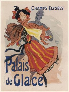 Poster for the Fashionable Palais De Glace in the Champs Elysees Paris by Jules Ch?ret