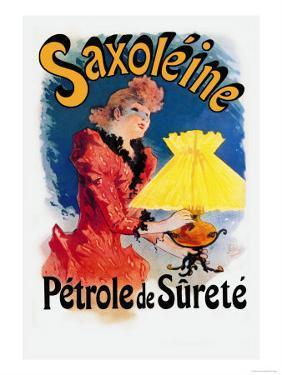 Saxoline, Petrole de Surete by Jules Ch?ret