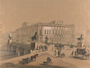 The Beloselsky-Belozersky Palace in Saint Petersburg by Jules Charlemagne