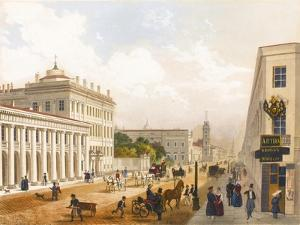 View of the Nevsky Prospekt in Saint Petersburg by Jules Charlemagne