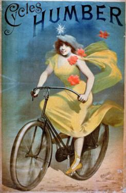 """Advertising for """"Humber Cycles"""" by Jules Chéret"""