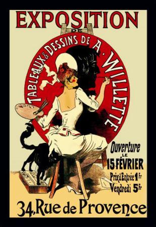 Exposition: Tableaux et Dessins de A. Willette by Jules Chéret