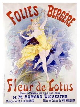 Fleur de Lotus, Folies Bergere by Jules Chéret