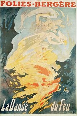 Folies Bergere: La Danse Du Feu, France 1897 by Jules Chéret