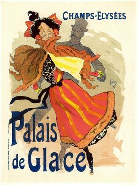 Lithographie publicitaire, le Palais de Glace by Jules Chéret