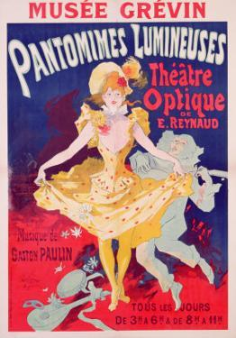 Poster Advertising 'Pantomimes Lumineuses, Theatre Optique de E. Reynaud' at the Musee Grevin, 1892 by Jules Chéret