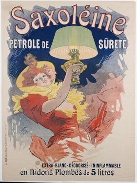 Poster Advertising 'saxoleine', Safety Lamp Oil, 1901 by Jules Chéret