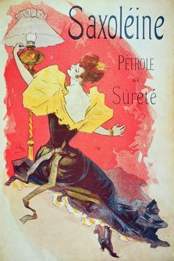 Poster Advertising 'Saxoleine', Safety Lamp Oil by Jules Chéret