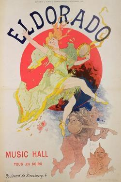 Poster for El Dorado by Jules Cheret (1836-1932) by Jules Chéret