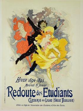 "Reproduction of a Poster Advertising a ""Student Gala Evening"" by Jules Chéret"
