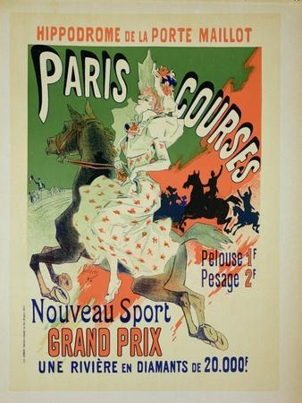 """Reproduction of a Poster Advertising """"Paris Courses"""""""