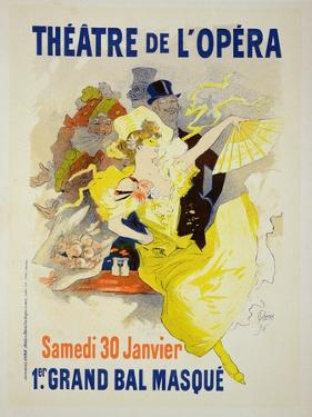 "Reproduction of a Poster Advertising the First ""Grand Bal Masque,"" Theatre De L'Opera, Paris, 1896 by Jules Chéret"