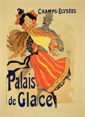 "Reproduction of a Poster Advertising the ""Palais De Glace,"" Champs Elysees, Paris, 1896 by Jules Chéret"