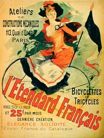 """The French Standard,"" Poster Advertising the Atelier De Constructions Mecaniques by Jules Chéret"