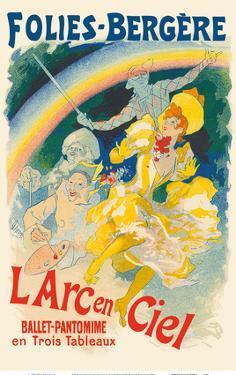 The Rainbow (L' Arc en Ciel) - Ballet Pantomime - Folies Bergères by Jules Cheret