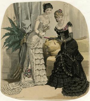 Evening Dress 1882 by Jules David
