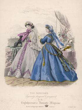 Fashion and Dog 1865 by Jules David