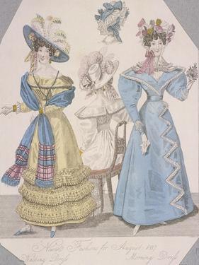 Two Women Wearing Walking Dress and Morning Dress, 1827 by Jules David