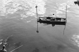 Fisher On The Seine, Paris by Jules Dortes