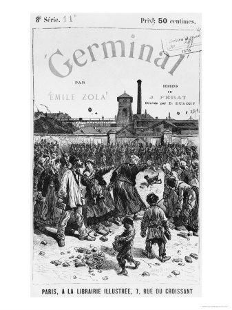 Front Cover Illustration of Germinal by Emile Zola