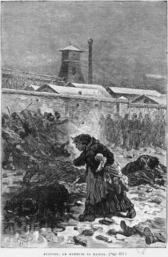 Stupide, La Maheude Se Baissa, Illustration from Germinal by Emile Zola by Jules Ferat