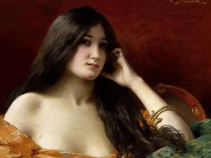Portrait of a Young Woman by Jules Frederic Ballavoine