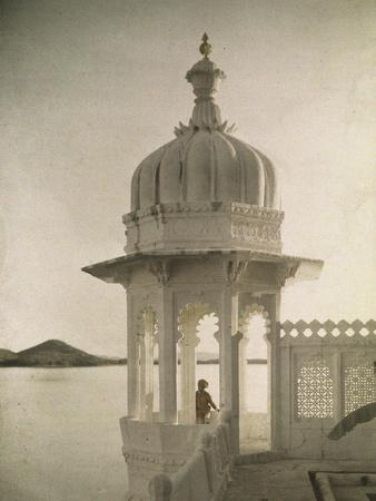 View Of The Palace Of Maharajas Pond From The Isla