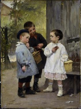 Give Me a Bite, 1883 by Jules Jean Geoffroy