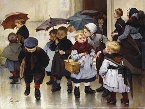 Leaving the Class, 1888 by Jules Jean Geoffroy
