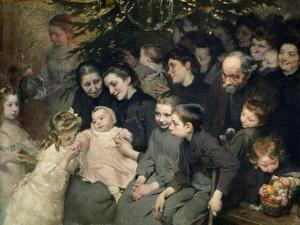 The Drop of Milk in Belleville: The Christmas Tree at the Dispensary, 1908 by Jules Jean Geoffroy