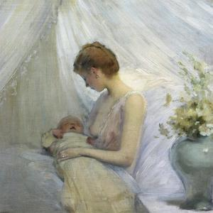 Young Woman and Baby by Jules Jean Geoffroy