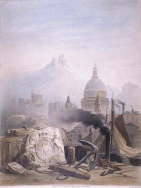 Montage of Images with St Pauls, C1855 by Jules Louis Arnout