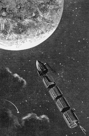 Illustration from From the Earth to the Moon by Jules Verne