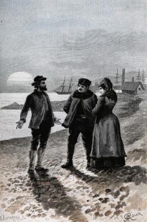 """Jules Verne, """"César Cascabel"""", Illustration by Jules Verne"""