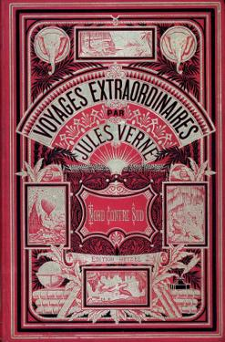 """Jules Verne, Cover of """"North Against South"""" by Jules Verne"""