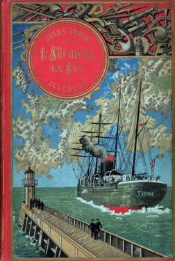 "Jules Verne, Cover of ""Propeller Island"" by Jules Verne"