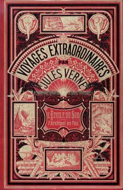 """Jules Verne, Cover of """"Southern Star Mystery"""" and """"Propeller Island"""" by Jules Verne"""
