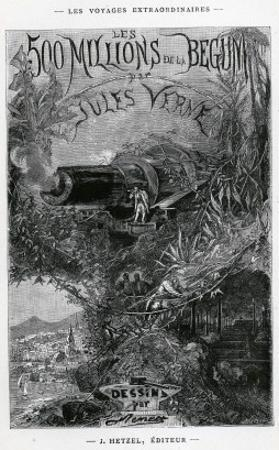 """Jules Verne, Frontispiece from """"The Begum""""S Fortune"""" by Jules Verne"""