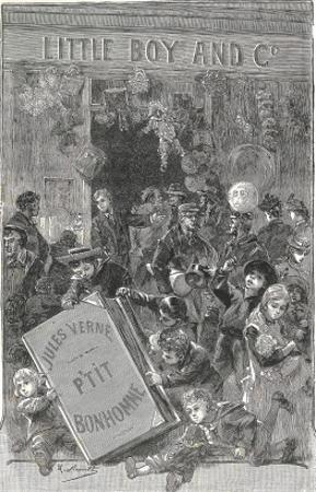 "Jules Verne, Frontispiece of ""Foundling Mick"" by Jules Verne"
