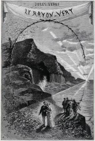 """Jules Verne, Frontispiece of """"The Green Ray"""" by Jules Verne"""