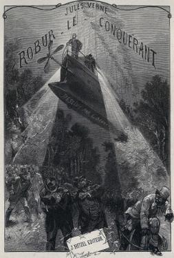 "Jules Verne, ""Robur the Conqueror"", Frontispiece by Jules Verne"